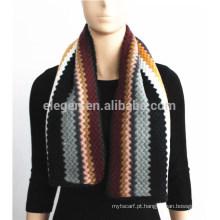 Stripe Padrão malha lenço de acrílico