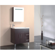 Floor Mounted Solid Wood Bathroom Vanity with Mirror Cabinet