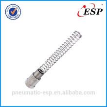Raccord pneumatique en métal pour écrou de blocage de tube en plastique avec ressort