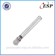 pneumatic metal fitting for plastic tube locking nut with spring
