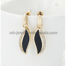 Half Moon Shape Zinc Alloy Oil Rhinestone Charms Women Earrings