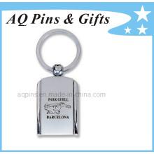 Porte-clés en métal personnalisé avec logo laser
