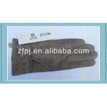 2014 fashion ladies designer pig white leather gloves