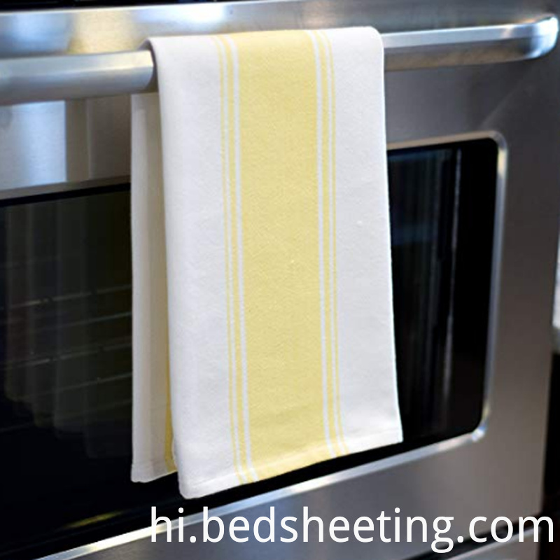 Cotton Yellow Vat Dyed Kitchen Towel