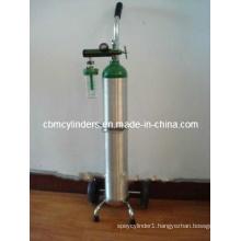 Convenient Oxygen Cylinder Set in a Cart