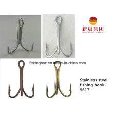 Silver Color Stainless Steel Trebel Fishing Hook 9617