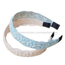 Elegance Lace and Imitation Pearls Decorated Hairbands in Various Colors