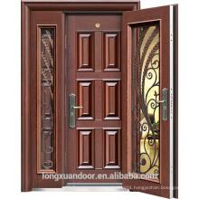 House Main Gate Exterior Security Steel Door, Quality External Metal Doors with Doulbe Doors, Door In Door                                                                         Quality Choice