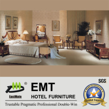 Изящный стиль спальни с деревянной мебелью (EMT-D0651)