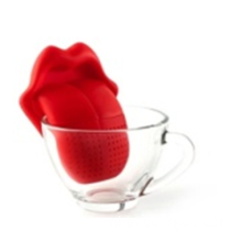 Professional man shape silicone tea strainer with high quality