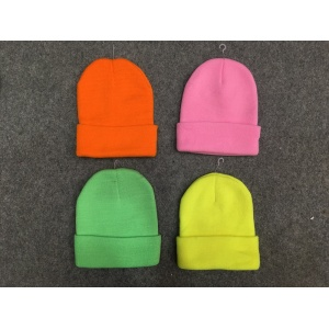 Fluorescent Knitted Beanie Hat