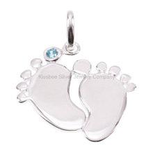 Bijoux en argent 925, pendentif en élasticité haute bijoux (KP3037)
