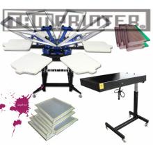2700*1800*1680mm 500PCS/Hr TM-R6 Popular Manual 6-Color T-Shirt Screen Printer Set