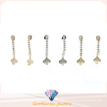 Simple & Fashion 925 Silver Earring with 3A CZ (E6503)