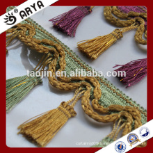 2016 Stock Product Cheap Wholesale for Home and Decor of Curtain Braided Tassel Fringe