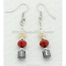 Magnetische Hämatit Kristall Perlen Ohrringe