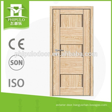 Fashionable design interior 3-panel melamine door