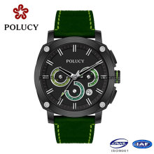 Частный ярлык Mens углеродного волокна часы с функцией хронографа