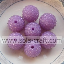Hot Sale10*12MM Light Purple Fluorescence Effect Resin Rhinestone Ball Beads