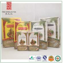 2017 áfrica chá verde para o norte e oeste da áfrica em todos os tipos de pacotes de lata de papel caixa de saco de plástico e assim por diante