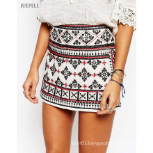 Africa Jacquard Ayla Mirror Mini Skirt