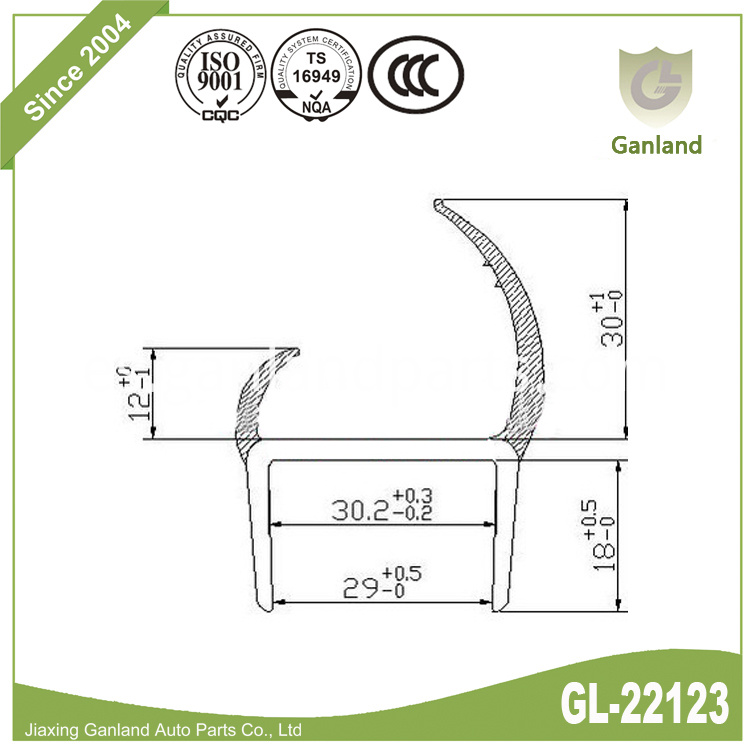 PVC Rigid Carrier With Flexible Lip gl-22123