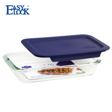 EASYLOCK Rectangular Oven Glass Baking Dishes with Lid On Sale