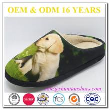 Diseño superior animal de lujo suaves TPR únicos zapatillas de casa baratas