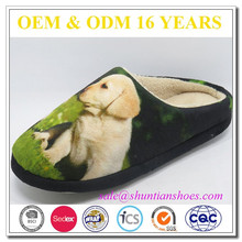 fancy animal upper design soft TPR sole cheap home slippers