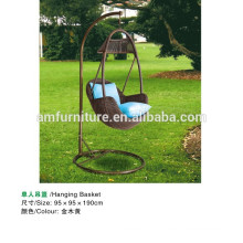 PE rattan egg chair swing for outdoor