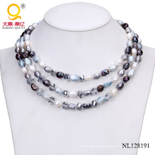 Fashion Pearl and Crystal Necklace Costume Jewelry