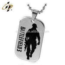 2017 high quality custom enamel military dog tag with necklace