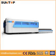 Máquina de corte do laser da folha de 1000W, tabela de trabalho da troca dupla, modelo fechado completo