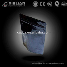 Schwarzer Reißverschluss-Plastikverpackungsbeutel