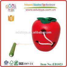 Juguetes de madera de Apple para el juguete del bebé