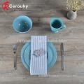 Custom round shape ceramic tableware / dinnerware plate set