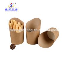 Papas fritas papas fritas caja de embalaje, caja de papas fritas desechables