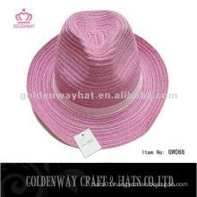 cheap cotton yarn girls fedora hat