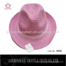 Chapéu de fedora de meninas de algodão barato
