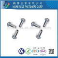 Taiwan Stainless steel 18-8 Chrome plated steel Nickel plated steel Copper Brass Semi Tubular and Solid Rivet