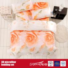 Flor grande impressa de Microfiber que imprime o roupa de cama 3D