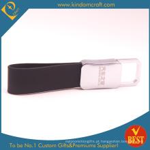 China Alta Qualidade Logotipo personalizado Die Casting chaveiro de couro no preço de fábrica