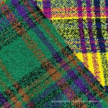Diseño de cuadros de moda Boucle con tejido de hilo de bucles
