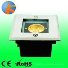 Mini Power 1w unterirdischen Licht Edelstahl 316 projizierte quadratische Form ip66