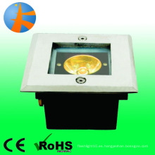 Mini potencia 1w subterráneo luz acero inoxidable 316 proyectando forma cuadrada ip66