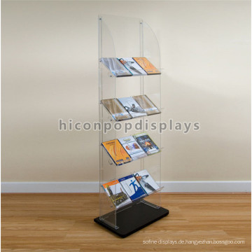 Professionelle Displays Fertigung Bodenbelag Tragbare Acryl Buch Und Grußkarte Display Stände