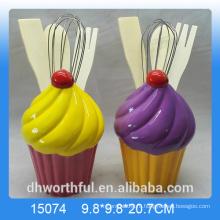 Оптовый cutely керамический держатель посуды в форме мороженого
