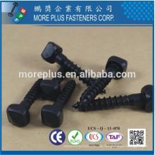 Made in Taiwan C1008 Weiche schwarze Oxid Pyramide quadratische Kopf Single Blei Gewinde Form Single End Point Holz Schraube