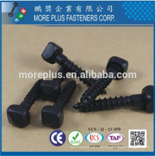 Made in Taiwan C1008 Soft Black Oxide Pyramid Square Head Single Lead Thread Form Single End Point Wood Screw