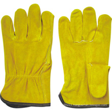 Golden Cow Split Leather Straight Thumb Driver Work Glove-9201